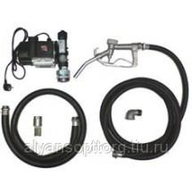 Насос для бочки ETP-60A-1 с комплектом шлангов и пистолетом /дизельное топливо, жидко масло/