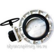 Затворы дисковые поворотные DENDOR серии 031PWG пластиковые межфланцевые с редуктором