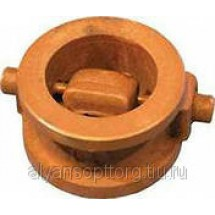 Клапан 19ч21бр обратный поворотный чугунный однодисковый стяжной (межфланцевый