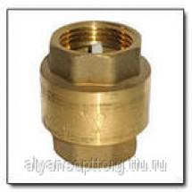 Клапан ТК обратный пружинный латунный муфтовый