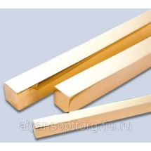 Квадрат бронзовый5ТУ 48-21-289-73, марка брб2